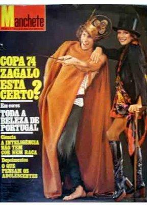 """Capa da revista """"Manchete"""" com Marco Nanini e Marília Pêra em seus respectivos papéis em Pippin"""