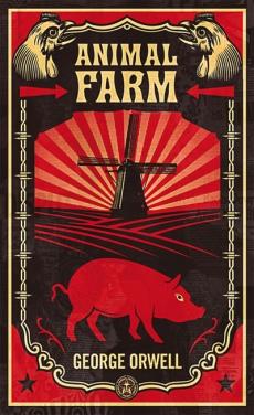 """Capa do livro """"A Revolução dos Bichos"""" (Animal Farm)"""
