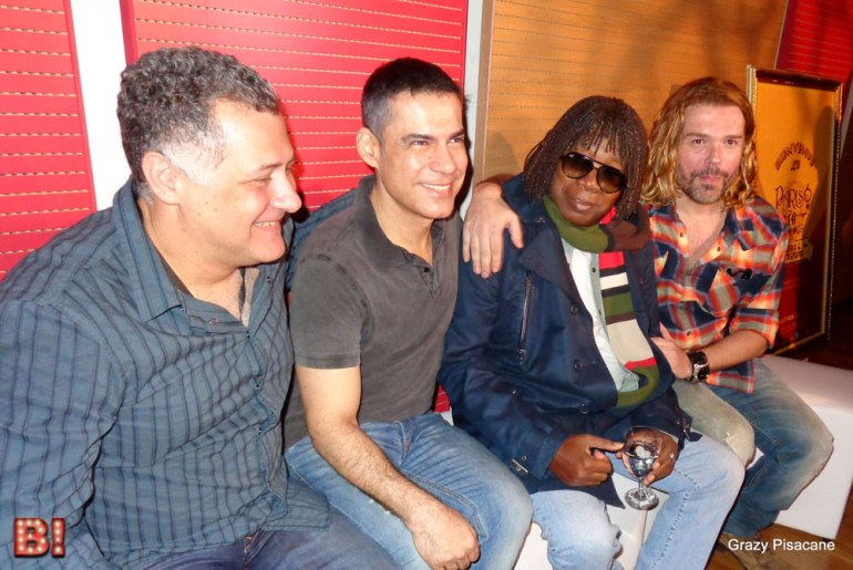 Leo Ganen, Claudio Botelho, Milton Nascimento e Charles Moeller (Foto: Grazy Pisacane)