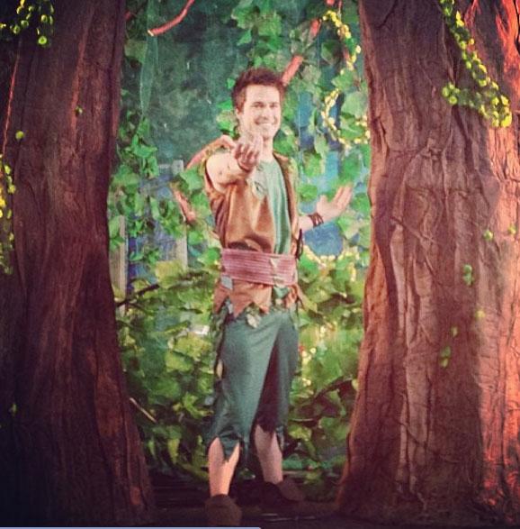 """Sérgio Dalcin caracterizado como """"Peter Pan"""" Foto: perfil pessoal do ator no Instagram"""