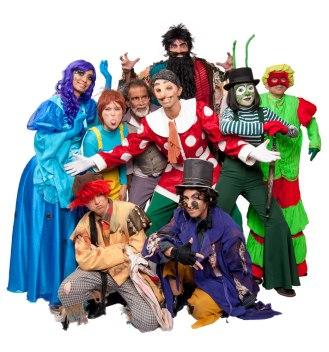 """Elenco de """"Pinocchio - uma aventura teatral mágica"""""""