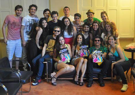 Banda Blitz em bate papo com elenco e equipe - Foto: Arquivo Pessoal (divulgação)