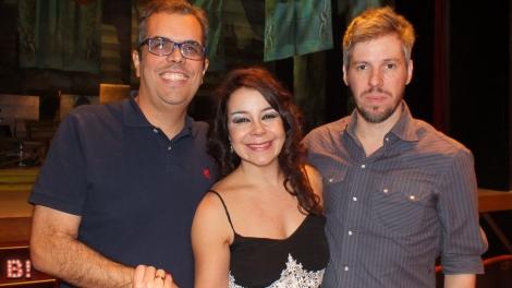 Newton Moreno, Isabel Lobo e Alessandro Toller