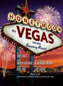 """Cartaz da produção musical de """"Lua de Mel em Las Vegas"""""""