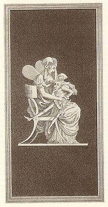 Gravura contemporânea na capa da primeira edição , gravada por Carl Friedrich Thiele (1780-1836) depois de um projeto desenhado de ETA Hoffmann.