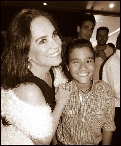Regina Duarte e Matheus Braga
