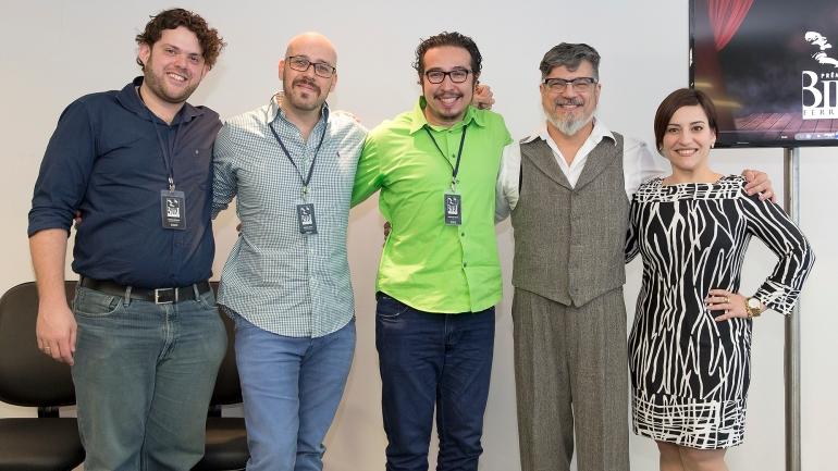 Equipe Criativa e Mestres de Cerimônia convidados. - Foto: Náira Messa
