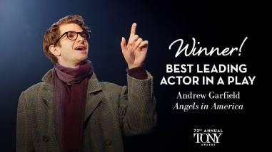"""Andrew Garfield - Melhor Ator em uma peça - """"Angels in America"""""""