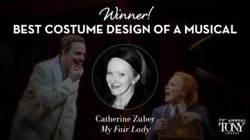 """Catherine Zuber - Melhor Figurino em um musical por """"My Fair Lady"""""""