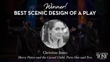 """Christine Jones - Melhor Cenografia de uma peça por """"Harry Potter and The Cursed Child - partes 1 e 2"""