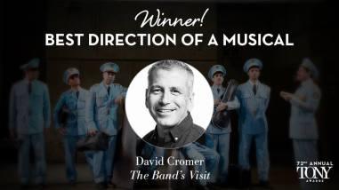 """David Cromer fatura o Tony de melhor direção de um musical por """"The Band's Visit"""""""