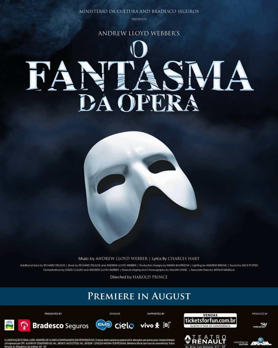 """O Fantasma da Ópera"" abre venda de ingressos"