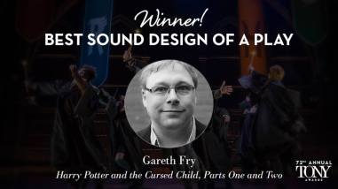 Gareth Fry leva para casa o Tony de melhor design de som em uma peça