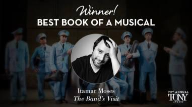 """Itamar Moses vence o prêmio Tony de melhor libreto por """"The Band's Visit"""""""