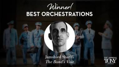 """Jamshied Sharifi vence o prêmio de melhor orquestração por """"The Band's Visit"""