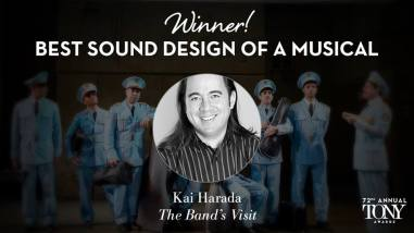 """Kai Harada recebe o Tony de melhor design de som em um musical por """"The Band's Visit"""""""