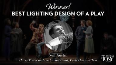 """Neil Austin fatura o prêmio Tony de melhor iluminação em uma peça por """" Harry Potter and the Cursed Child"""""""