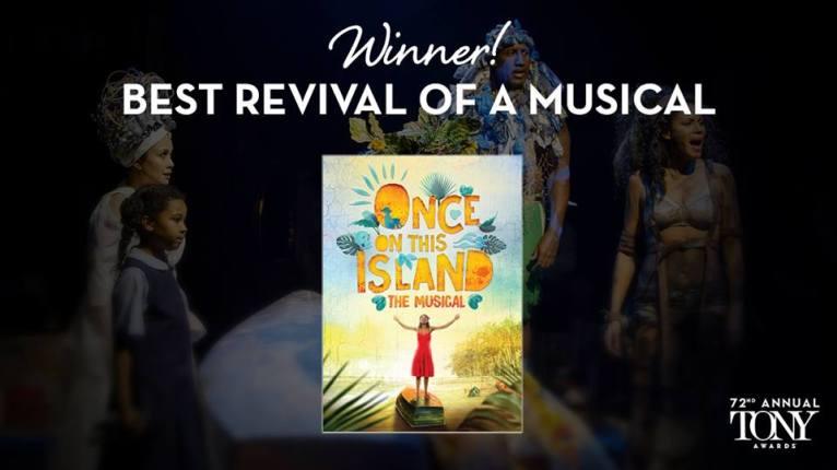 """""""Once on this Island"""" vence o Tony de melhor remontagem de um musical"""