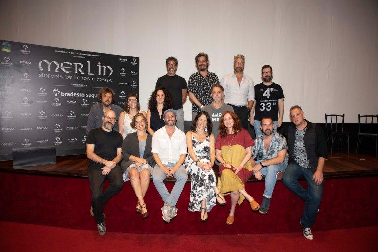 """Time criativo de """"Merlin, O Musical"""""""