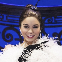 Vanessa Hudgens as Gigi in the new Broadway production of GIGI, book and lyrics by Alan Jay Lerner, music by Frederick Loewe, adaptation by Heidi Thomas, choreographed by Joshua Bergasse and directed by Eric Schaeffer, at the Neil Simon Theatre (250 West 52nd Street). © Margot Schulman